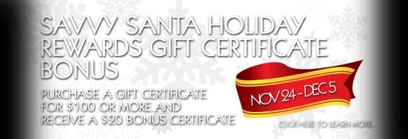 Savvy Santa Holiday Bonus